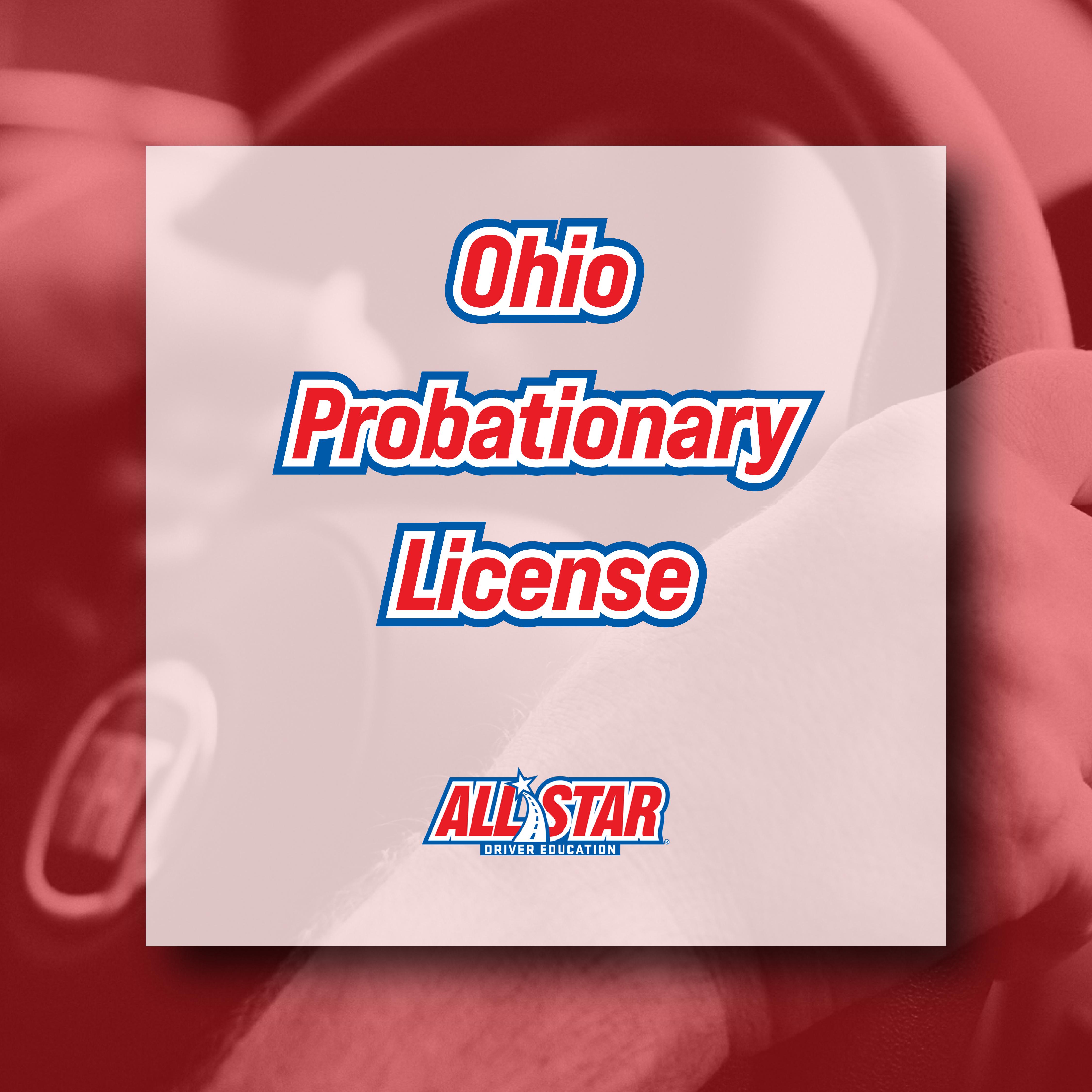 ohio probationary license
